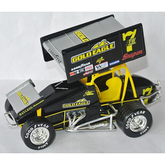 Jeff Swindell #7 SPRINT CAR 1995 GOLD EAGLE World Of...