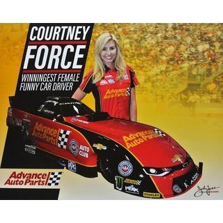 Courtney Force NHRA Funnycar 2017 Autogrammkarte Advance Auto Parts John Force Racing