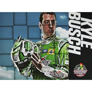Kyle Busch #18 Nascar 2017 Autogrammkarte Interstate Batteries Joe Gibbs Racing