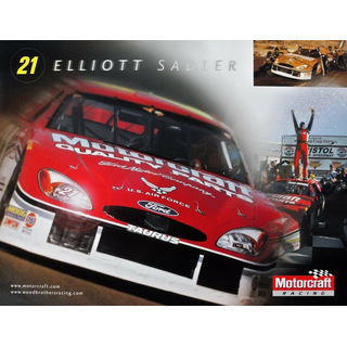 Elliott Sadler #21 Nascar 2002 Autogrammkarte Motorcraft Wood Brothers Racing