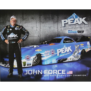 John Force NHRA Funnycar 2016 Autogrammkarte Peak John Force Racing