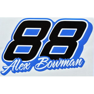 Aufkleber Driver Cut Decal NASCAR #88 ALEX BOWMAN