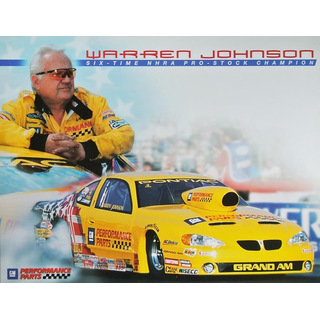 Warren Johnson NHRA Pro Stock Car 2003 Autogrammkarte GM Performance Parts