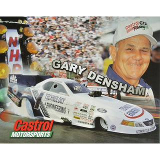 Gary Densham NHRA Funnycar 2001 Autogrammkarte Technology Engineering John Force Racing