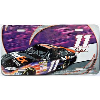 Nummernschild License Plate NASCAR #11 FedEx Express Denny Hamlin JGR