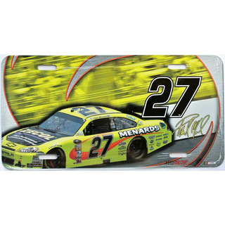 Nummernschild License Plate NASCAR #27 Menards Zecol Paul Menard RCR