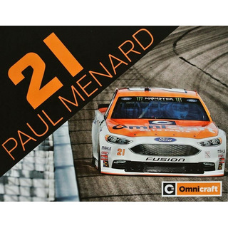 Paul Menard #21 Nascar 2018 Autogrammkarte Omnicraft Wood Brothers Racing