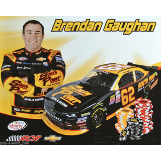 Brendan Gaughan #62 Nascar Xfinity 2017 Autogrammkarte West Point Richard Childress Racing