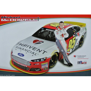 Michael McDowell #95 Nascar 2015 Autogrammkarte Thrivent Leavine Family Racing
