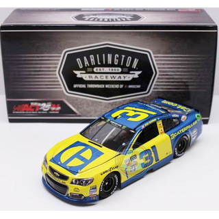 Ryan Newman #31 NASCAR 2017 RCR Chevrolet Caterpillar Darlington 1:24