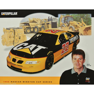 Ward Burton #22 Nascar 1999 Autogrammkarte Caterpillar Bill Davis Racing
