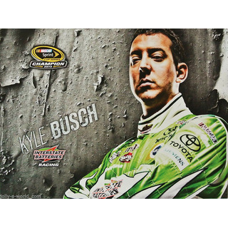 Kyle Busch #18 Nascar 2016 Autogrammkarte Interstate Batteries Joe Gibbs Racing
