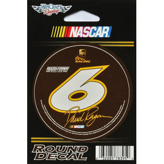 Aufkleber Round Decal 2011 NASCAR #6 David Ragan UPS Roush Fenway Racing