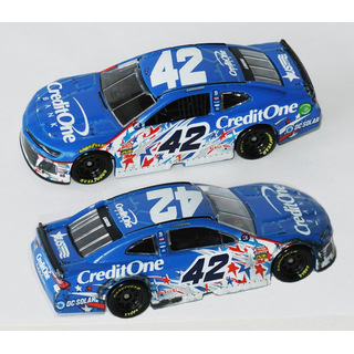 Kyle Larson #42 NASCAR 2018 CGR Chevrolet Credit One Bank Patriotic 1:64 Chicagoland Race Version